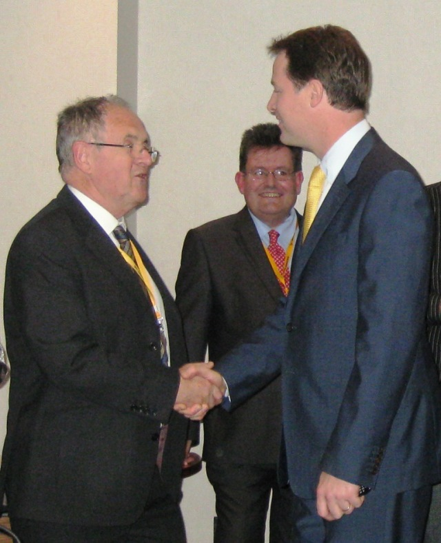 Nick Clegg at the LDFI meeting